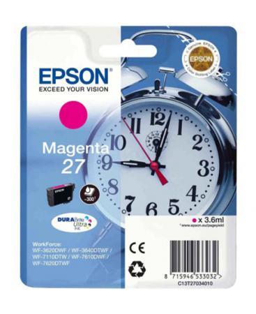 Картридж Epson C13T27034020 для Epson WF7110/7610/7620 пурпурный 350стр procolor continuous ink supply system ciss europe area 27 t2701 for epson wf 7110 wf7110 wf 7110 7110dtw wf 7110dtw wf7110dtw