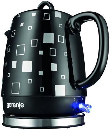 Купить Чайник Gorenje K10BKC 1850 Вт чёрный рисунок 1 л керамика, чёрный, рисунок