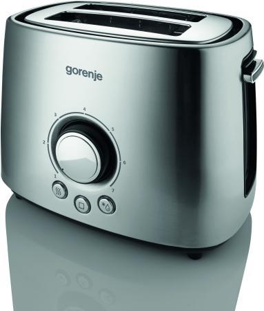 Тостер Gorenje T1000E серебристый чёрный тостер gorenje t1000e серебристый черный
