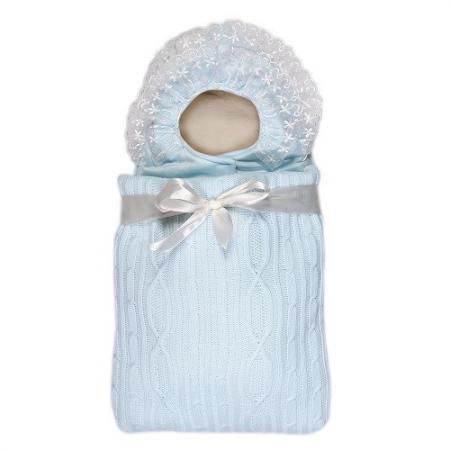 Конверт с 2-ми молниями Сонный Гномик Снежная Сказка (голубой) сонный гномик конверт на выписку снежная сказка голубой