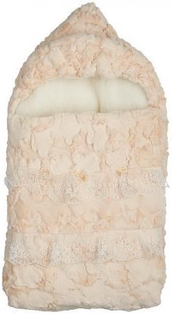 Конверт с 2-ми молниями с меховым владышем Сонный Гномик Облачка (кремовый) конверт детский сонный гномик 1 молния кремовый