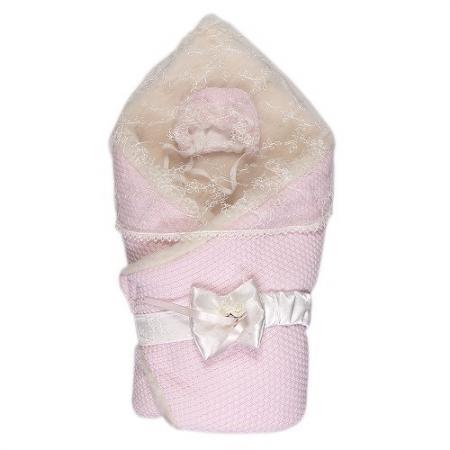 Конверт-одеяло с мехом Сонный Гномик Жемчужина  (розовый)