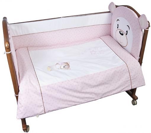 Комплект в кроватку 3 предмета Сонный Гномик Умка (розовый) цена