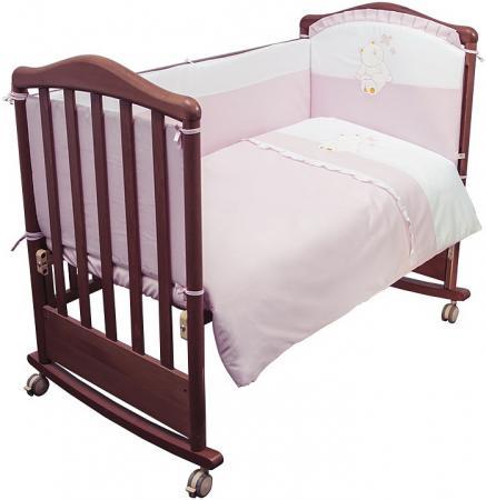 Комплект в кроватку 3 предмета Сонный Гномик Пушистик (розовый) цена