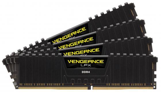 Оперативная память 32Gb (4x8Gb) PC4-25600 3000MHz DDR4 DIMM Corsair CMK32GX4M4C3000C15 модуль памяти corsair vengeance lpx ddr4 dimm 3000mhz pc4 24000 cl15 32gb kit 4x8gb cmk32gx4m4c3000c15