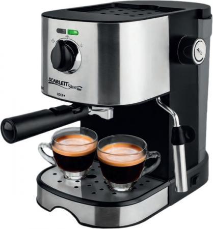 Кофеварка Scarlett SL-CM53001 850 Вт черный серебристый соковыжималка scarlett sl je51s02 серебристый