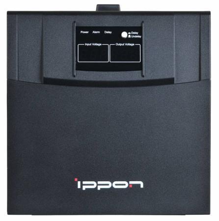 Стабилизатор напряжения Ippon AVR-3000 4 розетки черный стабилизатор ippon avr 1000