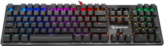 Клавиатура проводная A4TECH Bloody B820R USB черный клавиатура проводная a4tech bloody b130 usb черный