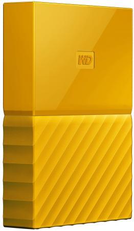 Внешний жесткий диск 2.5 USB3.0 2 Tb Western Digital My Passport WDBUAX0020BYL-EEUE желтый жесткий диск western digital my passport 2 5 4tb usb 3 0 black wdbuax0040bbk eeue