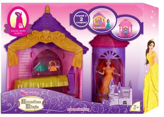 Игровой набор 1toy Красотка: Волшебная сказка - Спальня 11 см 1 toy кукольный домик красотка колокольчик с мебелью 29 деталей