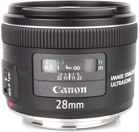 Объектив Canon EF 28mm F2.8 IS USM 5179B005 объектив canon ef 28mm f1 8 usm