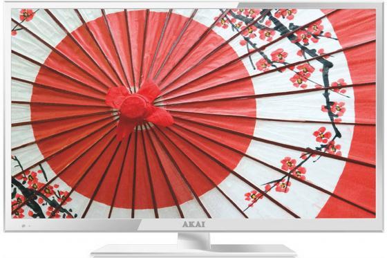 Телевизор LED 24 Akai LEA-24B53W белый 1920x1080 SCART HDMI USB led телевизор akai les 32x82wf