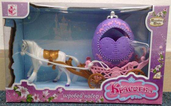 Карета с лошадью 1Toy Т59150 1toy 1toy карета с лошадью для кукол 1 местн т53235