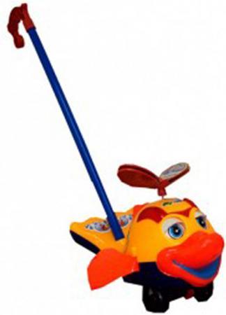 Каталка на палочке S+S Toys Рыбка пластик от 1 года на колесах оранжевый каталка на палочке s s toys вертолет 23х16х13см