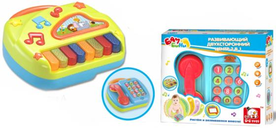 Развививающая игрушка S+S BAMBINI 2 в 1 - развивающий телефон и пианино, свет, звук. игрушка s s toys bambini 2 в 1 развивающий телефон и пианино сс76752