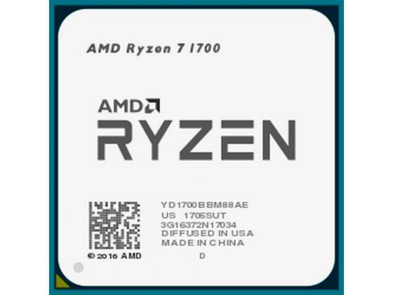 Процессор AMD Ryzen 7 1700 YD1700BBM88AE Socket AM4 OEM thermalright le grand macho rt computer coolers amd intel cpu heatsink radiatorlga 775 2011 1366 am3 am4 fm2 fm1 coolers fan