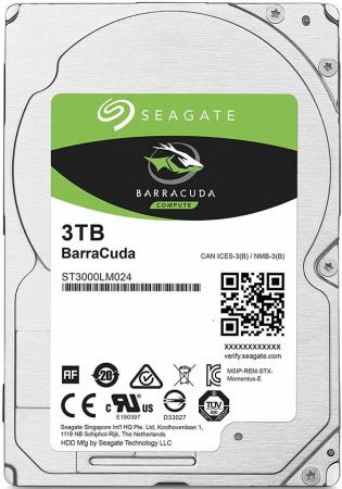 Жесткий диск для ноутбука 2.5 3Tb 5400rpm 128Mb cache Seagate Mobile Barracuda Guardian SATAIII ST3000LM024 жесткий диск 3 5 8 tb 5400rpm 128mb cache western digital purple sataiii wd80purz