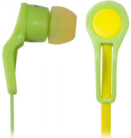 Наушники Ritmix RH-014 желто-зеленый наушники ritmix rh 013 желтый зеленый