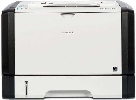 все цены на Принтер Ricoh SP 377DNwX черно-белый A4 28ppm 1200x1200dpi RJ-45 Wi-Fi USB 408152