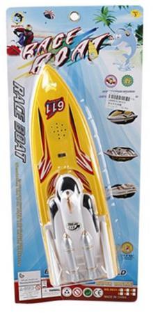 Катер Shantou Gepai Rasing Boat желтый свет, звук 8631A стоимость