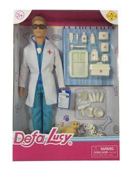 Кукла Defa Lucy Доктор-мужчина с аксесс. 61679 кукла defa lucy 8077