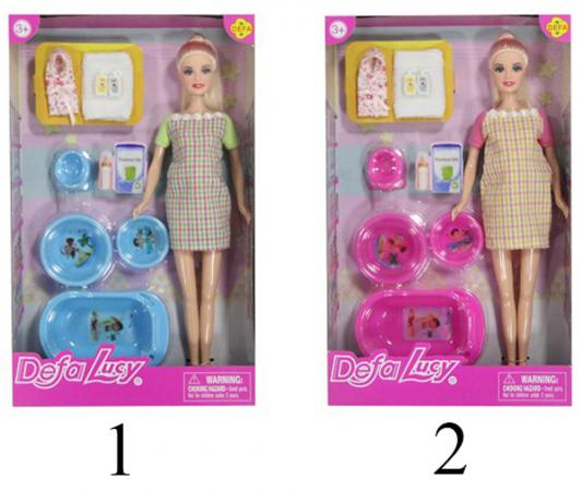 Кукла Defa Luсy Будущая мама с аксесс., в ассорт. 61681 кукла defa luсy свадебный наряд в ассорт