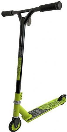 Самокат двухколёсный X-Match Totem 4 зелено-черный 641018 самокат трехколёсный x match скутер голубой 125 мм pvc светящ 100% легкосплавн 64459