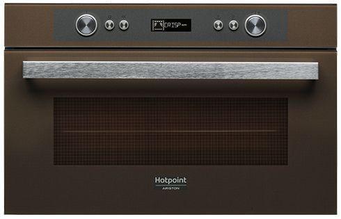 Встраиваемая микроволновая печь Ariston MD 764 CF HA 1000 Вт коричневый hotpoint ariston md 764 bl черный