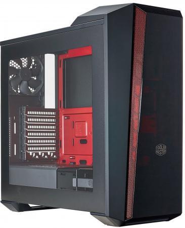 Корпус ATX Cooler Master MCX-B5S3T-RWNN Без БП чёрный красный разъем f mcx f mcx rf f female to mcx male
