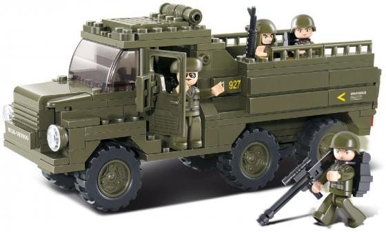Конструктор SLUBAN Армейский грузовик M38-B0301 230 элементов конструктор sluban большой красный грузовик 345 элементов m38 b0338