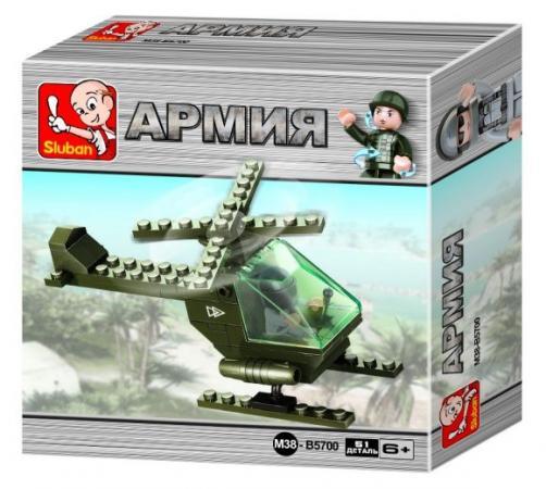 Конструктор SLUBAN Вертолет 51 элемент M38-B5700 конструктор sluban формула 1 m38 b0353