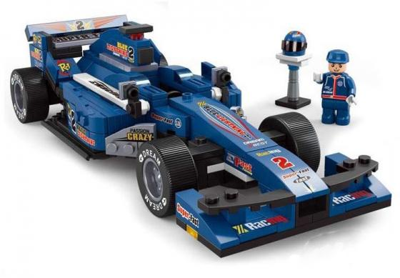 Конструктор SLUBAN Синий гоночный автомобиль M38-B0353 277 элементов конструктор bauer автомобиль 282