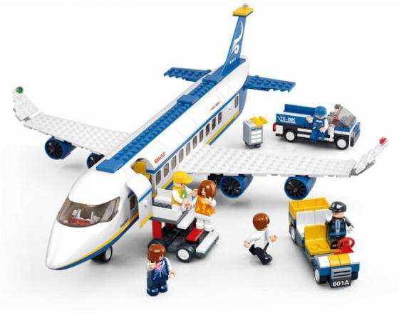 Конструктор SLUBAN Аэробус M38-B0366 463 элемента b0366 sluban city plane airport cargo terminal model building blocks enlighten diy figure toys for children compatible legoe