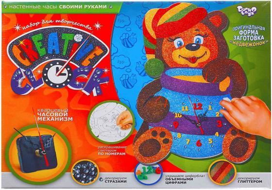 Набор для творчества ДАНКО-ТОЙС Creative clock средний Медвежонок от 5 лет