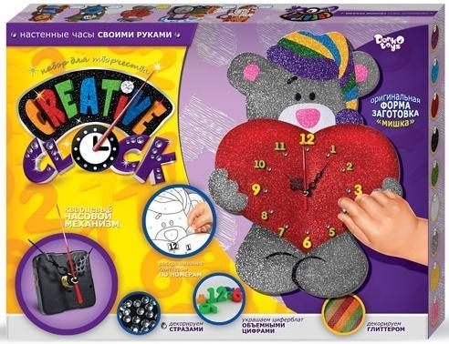 Набор для творчества ДАНКО-ТОЙС Creative clock Мишка от 5 лет