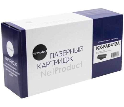 Фотобарабан NetProduct KX-FAD412A для Panasonic KX-MB1900/2000/2020/2030/2051 10000стр фотобарабан panasonic kx fa78a7 для kx fl501 502 503 6000cтр