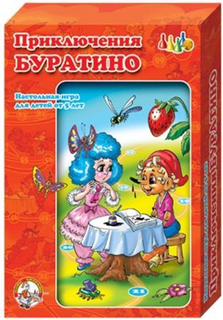 Настольная игра ходилка Десятое королевство Приключения Буратино 00288 игра настольная обучающая десятое королевство чиполлино приключения буратино 2в1