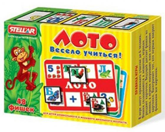 Настольная игра лото Стеллар Весело учиться 904 настольные игры стеллар лото для девочек