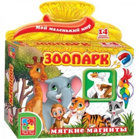 Магнитная игра развивающая Vladi toys Зоопарк VT3101-05
