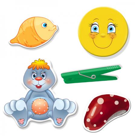 Настольная игра развивающая Vladi toys Прищепочки Зайка VT1307-04 VT1307-04 настольная игра vladi toys развивающая транспорт