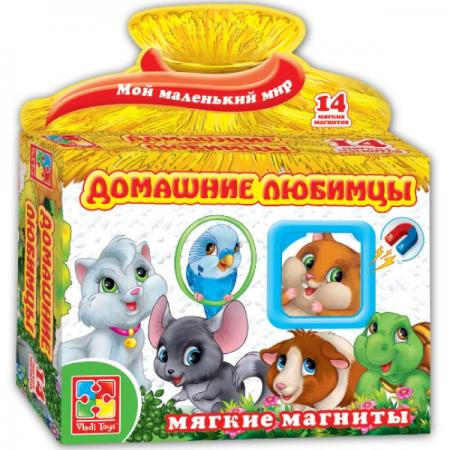 Магнитная игра развивающая Vladi toys Домашние любимцы VT3101-07 vladi toys игра на магнитах домашние любимцы vladi toys