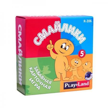 Настольная игра карточная PLAYLAND Смайлики  R-206