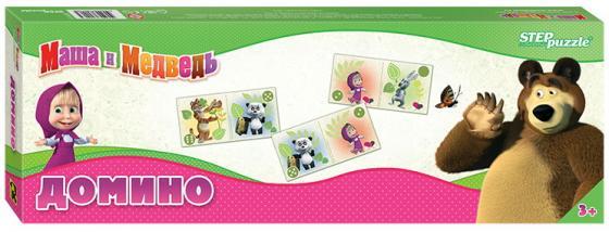 Настольная игра домино Step Puzzle Маша и Медведь 80116 настольная игра домино step puzzle маша и медведь
