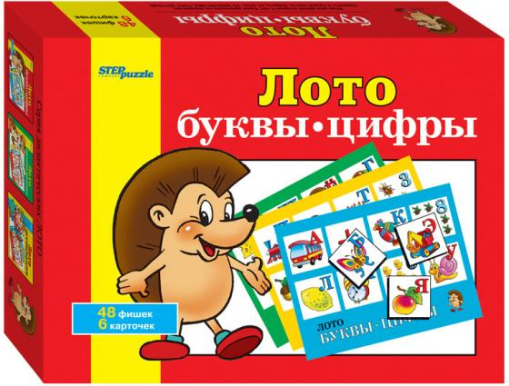 цена Настольная игра лото Step Puzzle Буквы-цифры 80301