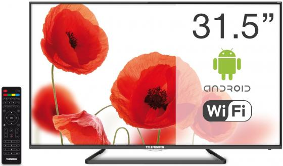 Телевизор LED 32 Telefunken TF-LED32S39T2S черный 1366x768 50 Гц Wi-Fi Smart TV RJ-45 телевизор led 55 telefunken tf led55s37t2su черный 3840x2160 50 гц smart tv wi fi rj 45