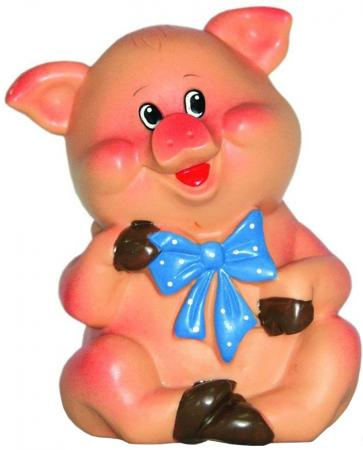 """Резиновая игрушка для ванны ВЕСНА """"Поросенок с бантиком"""" 11 см В2329 цены онлайн"""