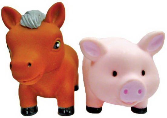 Игрушка для купания для ванны Жирафики Лошадка и свинка