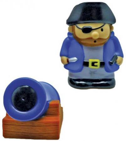 Игрушка для купания для ванны Жирафики Пират и пушка 681271
