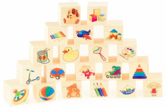 Кубики Русские деревянные игрушки Игрушки 20 шт Д155c