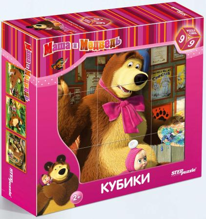 Кубик Step Puzzle Маша и Медведь 9 шт набор step puzzle пластиковых кубиков анимаккорд 9шт маша и медведь